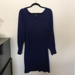 Banana Republic purple midi dress